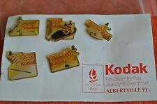 15194 PIN'S PINS JO ALBERTVILLE 92 OLYMPIC WORLD GAMES KODAK PHOTO - set of 5
