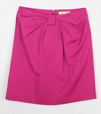 Cotton Blend Above Knee A-Line Solid Skirts for Women