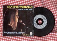 Nanette Workman & JOHNNY HALLYDAY. Cd single.Repros 45T 70'S. Fleur déracinée
