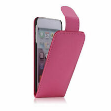 Leather Vertcial Flip Case Cover Pouch For Apple iPod Touch 5 5th Gen Pink UK