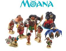 Set 12pcs Figuras Moana Princesa Vaiana Tala Jefe Tui Hei Hei  La Película 10cm