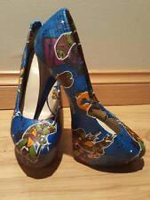 Teenage Mutant Ninja Turtles themed - blue - Womens Stiletto - Size 9 - Custom