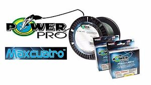 PowerPro Maxcuatro Braided Spectra Fishing Line 1500 Yards- Pick Line Test