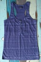 American Eagle navy blue semi-sheer tank top women's size S