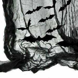 15ft Vampire Bats Decoration Black Gauze Kit Gothic Halloween Horror Party