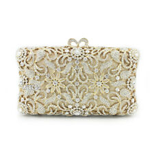Vintage Rhinestone Evening Bag Party Crystal Clutch Wedding Handbag Womens Purse