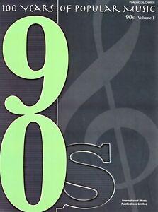 """100 YEARS OF POPULAR MUSIC - 90s - VOLUME 1"" IMP [MUSIC SONG BOOK]"