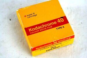 Kodak KODACHROME 40 SUPER 8 Cartridge 8mm - Unopened, EXPIRED