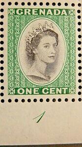 GRENADA 1953-59 SG193  -  QEII 1c. BLACK AND DEEP EMERALD - MNH