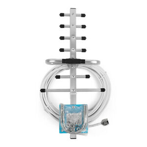 Outdoor Directional Yagi Antenna Mobile Signal Booster N-Male With 15m Cable