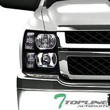 Topline For 2007-2014 Chevy Silverado Black Clear Housing Headlights Signal Nb