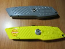 1 x Yellow & 1 x Grey STERLING UTILITY CUTTER thumb lock blade heavy duty
