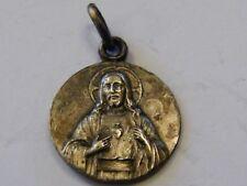 Médaille Pendentif Jésus Argent Plaqué Silver Silber