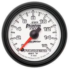 "Auto Meter Boost/Pyrometer Gauge 7544; Phantom II Kit 1600°F 2-1/16"" Electrical"