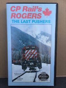 C P RAIL's ROGERS - The Last Pushers - RAILWAY VIDEO - VHS