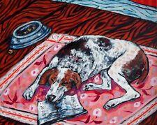american fox hound dog sleeping bedroom 13x19 art print animals artist