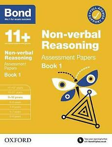 Bond 11+ Non Verbal Reasoning Assessment Papers 9-10 Years - Book 1