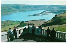 Columbia River looking west from Maryhill Museum Vintage Chrome Postcard