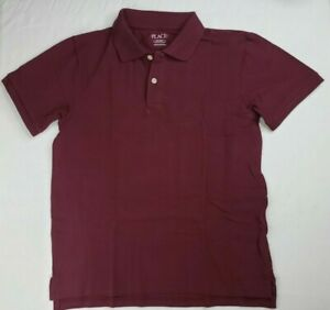 Boys Children's Place Dark Red Polo Shirt - Size L Large 10-12