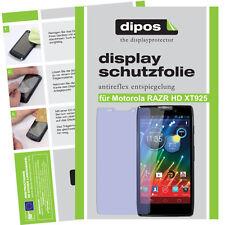 1x Motorola RAZR HD Schutzfolie matt Displayschutzfolie Antireflex Folie dipos