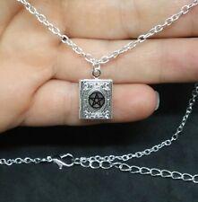 Wiccan Pagan Druid Pentacle Necklace Book Of Shadows Pendant Pentagram