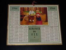 CALENDRIER PTT - 1966 - DECOUVERTE - ENFANTS - POUSSINS - OBERTHUR