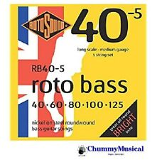 Rotosound Roto Bass Guitar RB40-5 Hybrid 40-125 Nickel Five Strings RB40-5