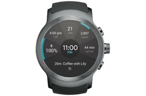 LG Watch Sport W280A AT&T Unlocked 45.4mm Titanium Stainless Steel Case Black