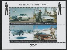 Madagascar 7677 - 2018   JAMES BOND'S CARS   perf sheet of 4 unmounted mint