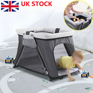 Baby Portable Travel Cot Crib Bassinet Bed Playpen Infants with Mattress Folding