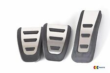 NEW GENUINE AUDI A4 A5 STAINLESS STEEL PEDAL COVERS SET MANUAL LHD 8K1064200