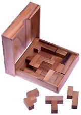 Pentomino Square Puzzle Denkspiel Knobelspiel aus Holz mit Varianten - 2. Wahl