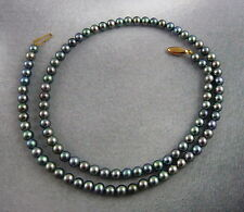 Scottish Ola Gorie 9ct Yellow Gold 375 Plearl Necklace strand
