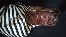 L.A.M.B. Hand / Shoulder Bag Purse Satchel Brown leather Gwen Stefani  Dust bag