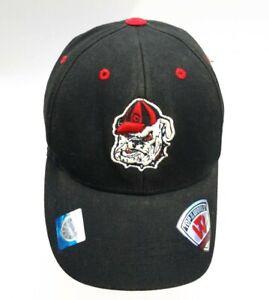 "Top of the World Georgia Bulldogs Logo Black 2013 Baseball Cap Hat 6 1/2""-6 7/8"""