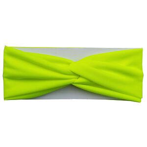 Twisted Hair Wrap Yoga Headband Stretchable Turban Hairband Fashion Solid Color
