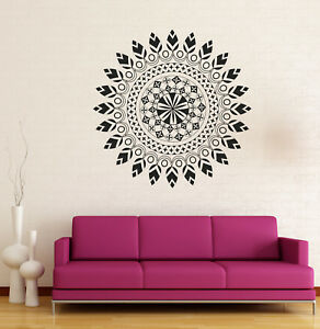 Vinyl Decal Mandala Circle Meditation Relaxation Yoga Studio Wall Sticker (n873)