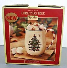 Spode Christmas Tree Peppermint Candycane Set Of 3 Mugs