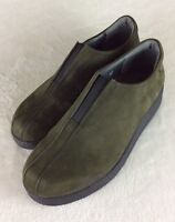 Mephisto Air Relax Green Suede Loafers Walking Shoes Women's Sz EU 5.5 / US 8M