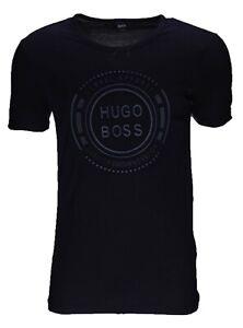 Hugo Boss  T-Shirt,Boss Green T-shirt Stanz Logo Rundhals  Gr M Schwarz Neu,