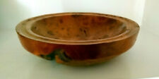 Rustic Hand Made Burr Elm Wood Bowl Signed and dated 2003 16 x 6.5 cms