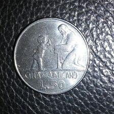 Città del Vaticano moneta 50 lire Papa Paolo VI del 1978