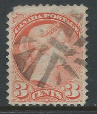Canada #41(38) 1888 3 cent bright vermilion VICTORIA FANCY CORK Cancel