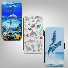 Cute Dolphin Dolphins Ocean FLIP PHONE CASE COVER for IPHONE SAMSUNG HUAWEI