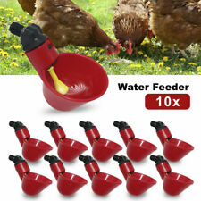 10x Automatic Cups Water Feeder Drinker Chicken Waterer Poultry Chook Bird
