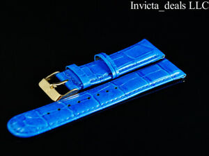 Invicta Lupah Genuine Leather 22mm Blue Replacement Strap AUTHENTIC
