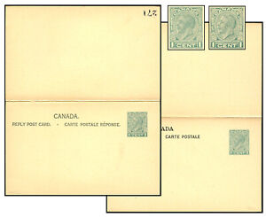 CANADA 1935? 1¢+1¢ MEDALLION REPLY PSC Webb P136