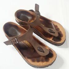 Birkenstock Women's Gizeh 38 Thong Sandals birko-flor - Brown US 7