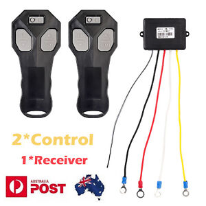 Wireless Winch Remote Control Recovery Handsets 443MHz 2*Control 1*Receiver 12V