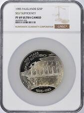1985 Falkland Islands Silver 25 Pounds NGC Proof-69 Ultra Cameo